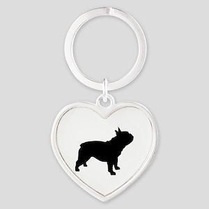 French Bulldog Heart Keychain