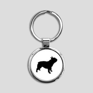 French Bulldog Round Keychain