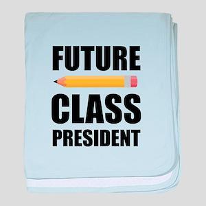 Future Class President baby blanket