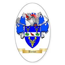 Barton (England) Sticker (Oval)