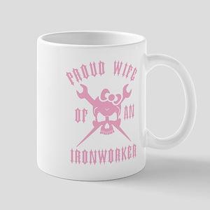 IRONWORKER WIFE LOGO pink Mug
