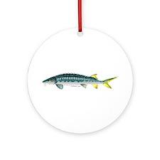 White Sturgeon fish Ornament (Round)