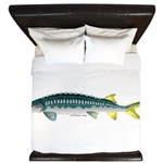 White Sturgeon fish King Duvet