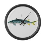 White Sturgeon fish Large Wall Clock