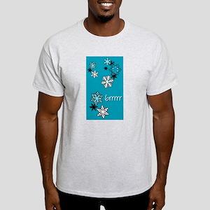 Christmas Snowflakes Ash Grey T-Shirt