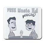 Free Music Ed Cartoon Mousepad