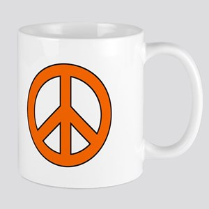 Orange Peace Sign Mug