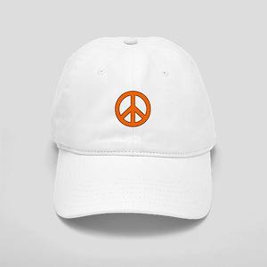 Orange Peace Sign Baseball Cap