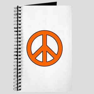 Orange Peace Sign Journal