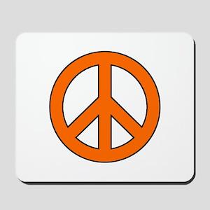 Orange Peace Sign Mousepad