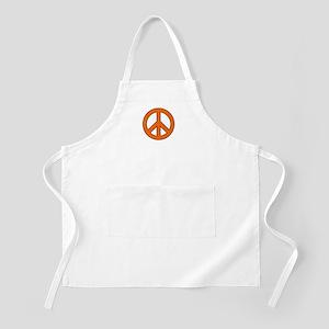 Orange Peace Sign Apron