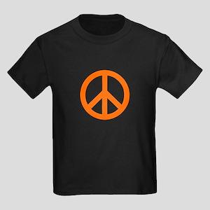Orange Peace Sign T-Shirt