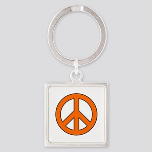 Orange Peace Sign Keychains