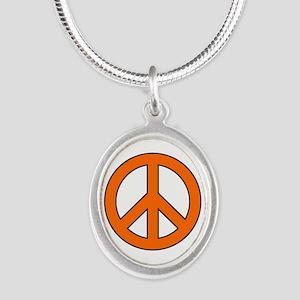 Orange Peace Sign Necklaces