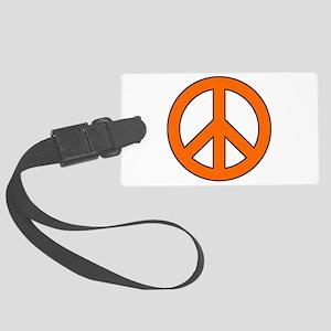 Orange Peace Sign Luggage Tag