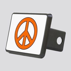Orange Peace Sign Hitch Cover