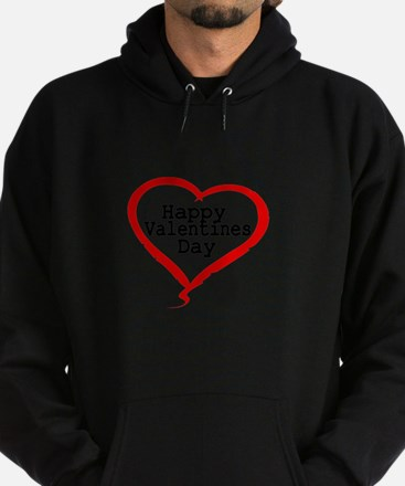 Happy Valentines Day with Large Heart Hoodie