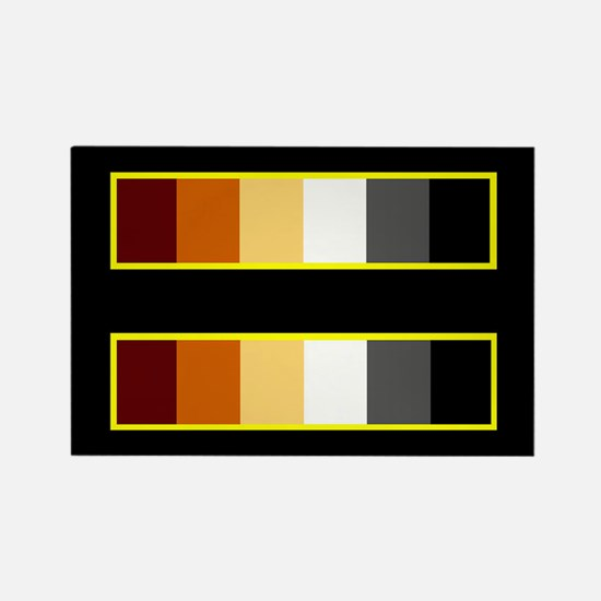 Equality Bear Black Rectangle Magnet