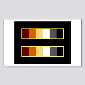 Equality Bear Black Rectangle Sticker