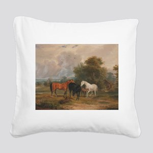 Field Day Square Canvas Pillow
