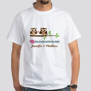 60th Anniversary Personalized Owl Gift T-Shirt