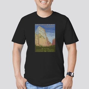 Zion Park Men's Fitted T-Shirt (dark)