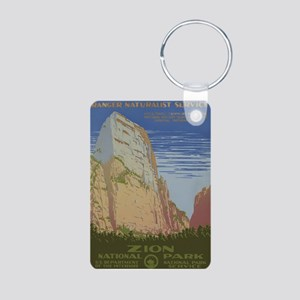 Zion Park Aluminum Photo Keychain