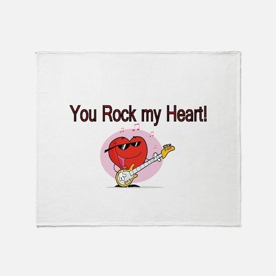 You Rock My Heart Throw Blanket