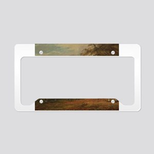 Vintage Painting of a Bay Horse License Plate Hold