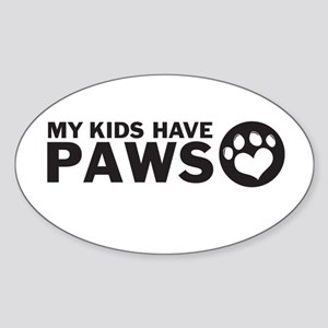 my kids have paws Sticker