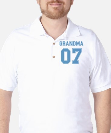 Blue Grandma 07 Golf Shirt