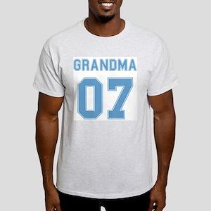 Blue Grandma 07 Ash Grey T-Shirt