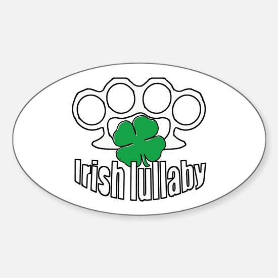 Shamrock Irish Lullaby. Sticker (Oval)