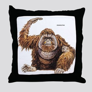 Orangutan Ape Throw Pillow
