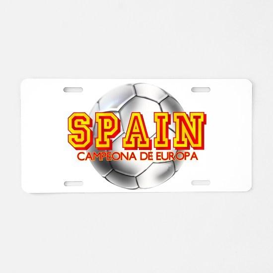 Spanish Football Champions Aluminum License Plate