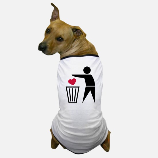 garbage_can_heart Dog T-Shirt