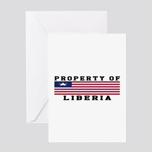 Property Of Liberia Greeting Card