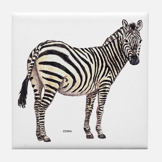 Zebra Animal Tile Coaster