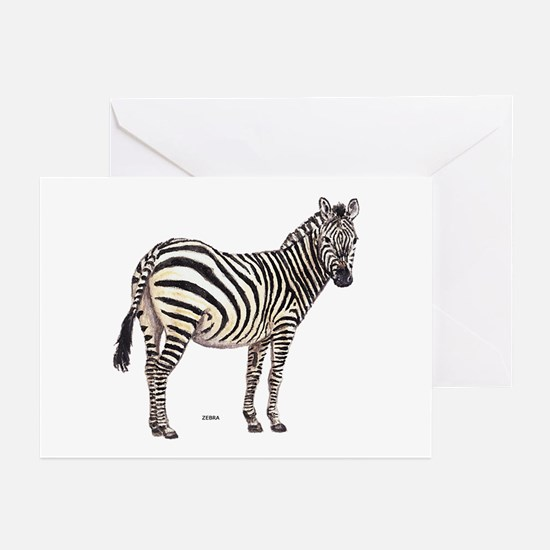 Zebra Animal Greeting Cards (Pk of 10)