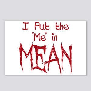 I Put the Me in Mean Postcards (Package of 8)