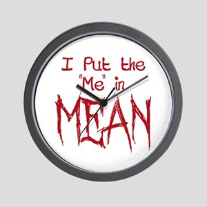 I Put the Me in Mean Wall Clock