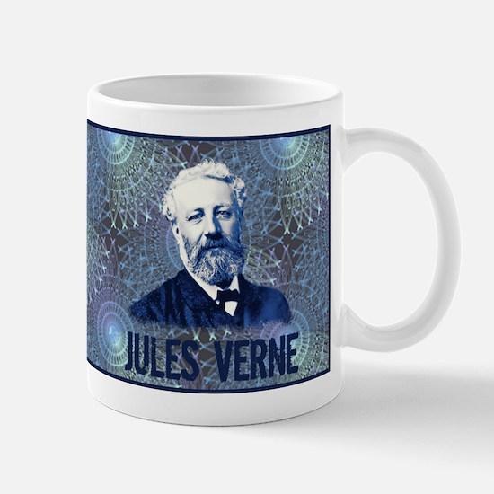 Jules Verne Steampunk in Blue Mug