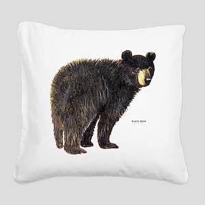 Black Bear Square Canvas Pillow