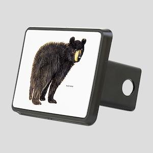 Black Bear Rectangular Hitch Cover