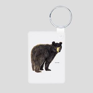 Black Bear Aluminum Photo Keychain