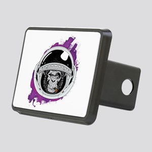 Space Monkey purple Rectangular Hitch Cover