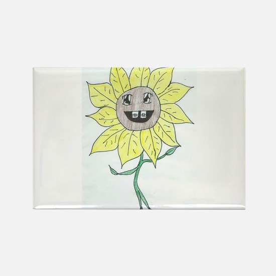Youth Daisy Rectangle Magnet