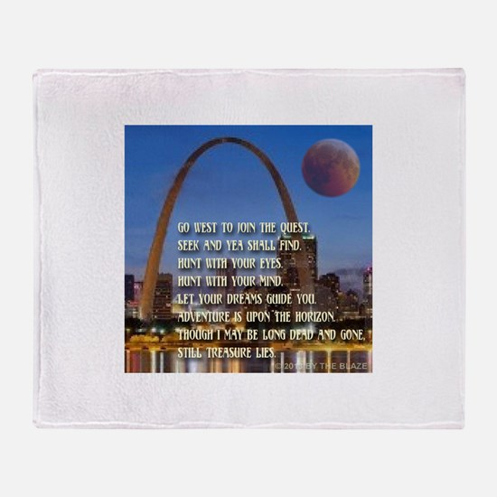 Go West To Join The Quest Throw Blanket