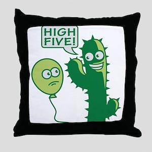 cactus_high_five Throw Pillow