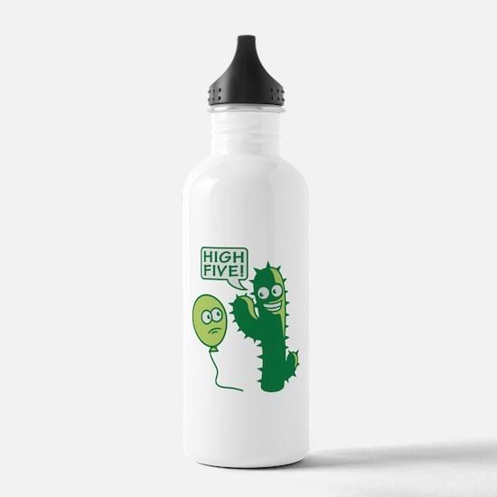 cactus_high_five Water Bottle